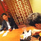 12月19日 大阪 淀屋橋 Aコースの様子